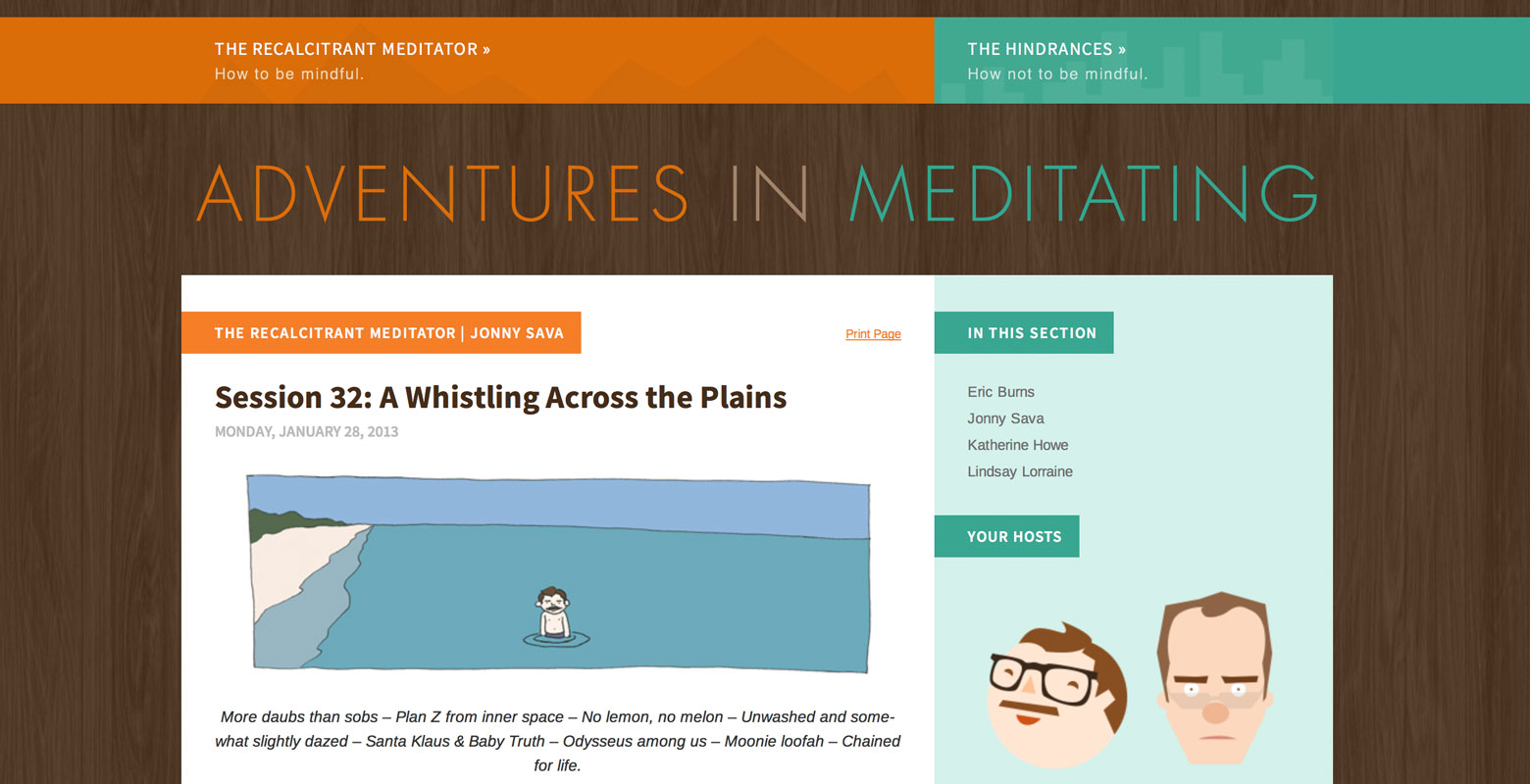 Adventures in Meditating