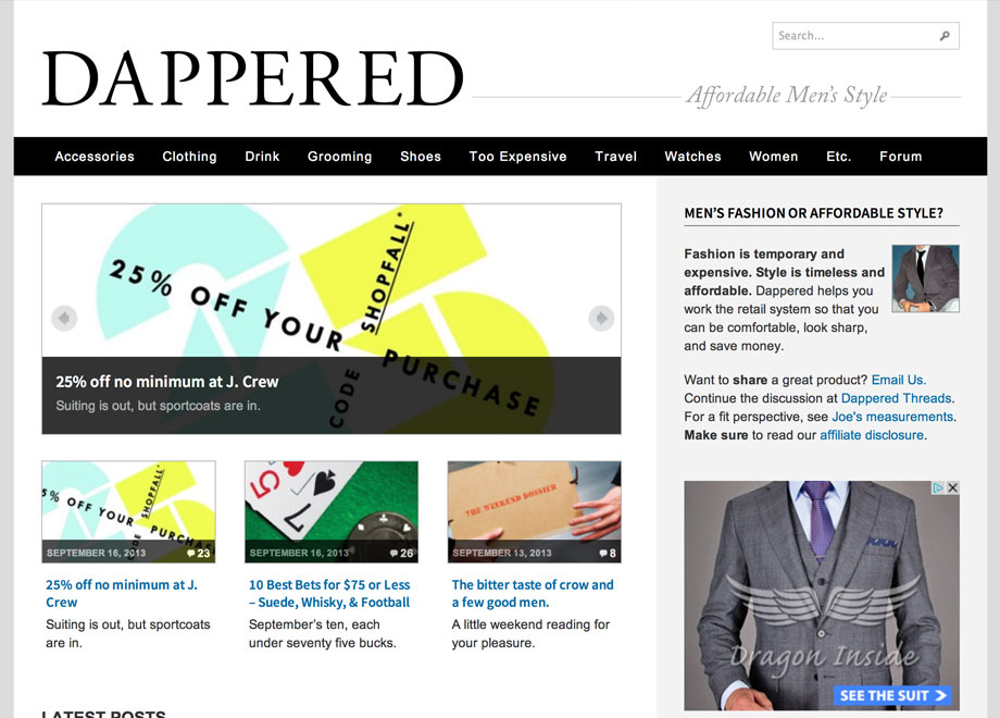 Dappered: Affordable Men's Style
