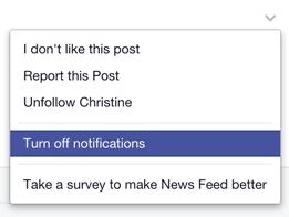 Turn on/off Facebook comment notifications | Megan Coleman Design