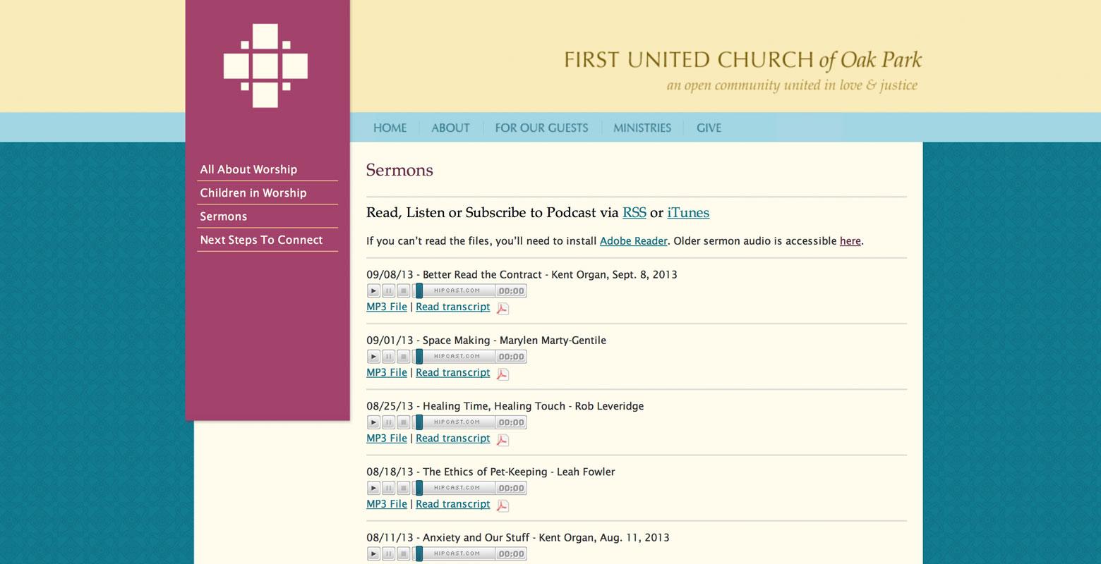 First United Church of Oak Park